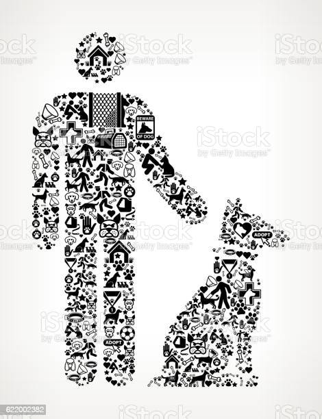 Person and dog dog and canine pet black icon pattern vector id622002382?b=1&k=6&m=622002382&s=612x612&h= fdafpsfq6sgkekndghm7 r3joxt euflvw8r7dhbc0=