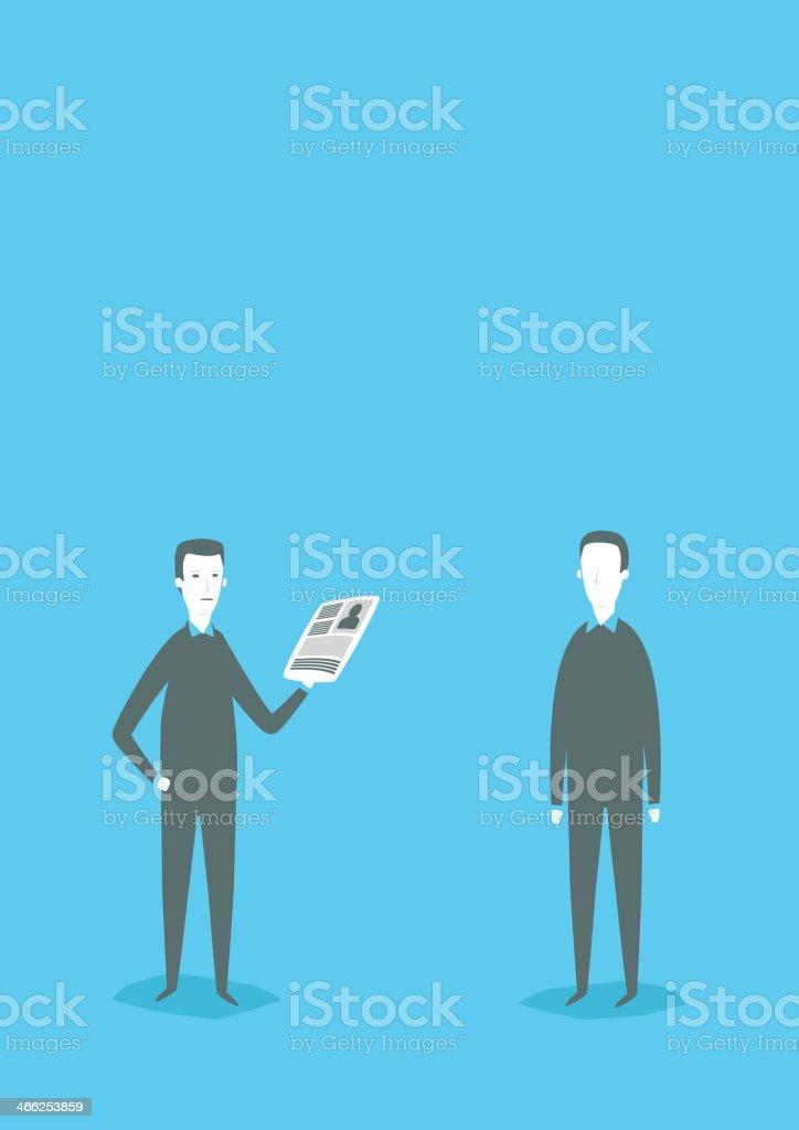 Person control vector art illustration