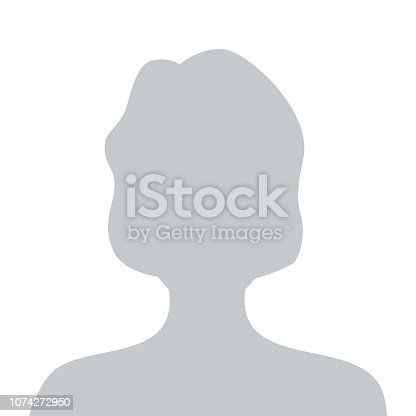 Person gray photo placeholder woman silhouette on white background