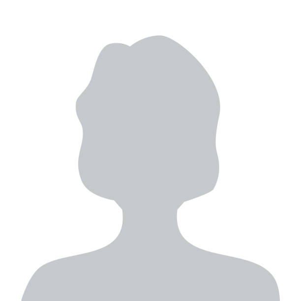 person graue foto platzhalter woman - bildkomposition und technik stock-grafiken, -clipart, -cartoons und -symbole