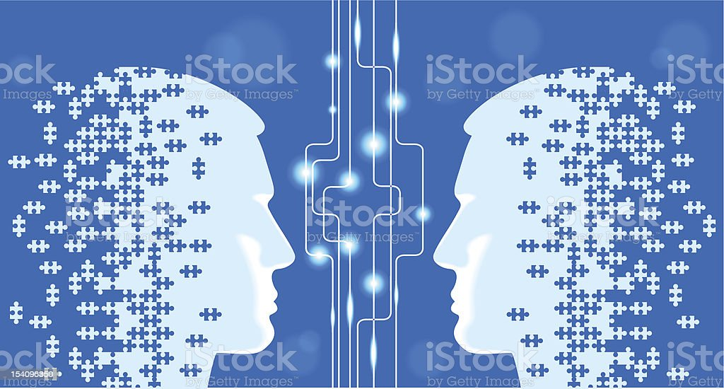 person head puzzles royalty-free stock vector art