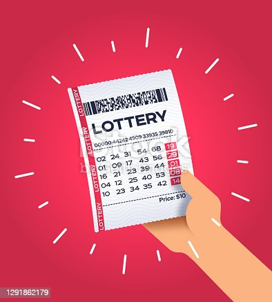 istock Person Holding a Winning Lottery Ticket 1291862179