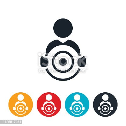 istock Person Holding Target Icon 1126817251