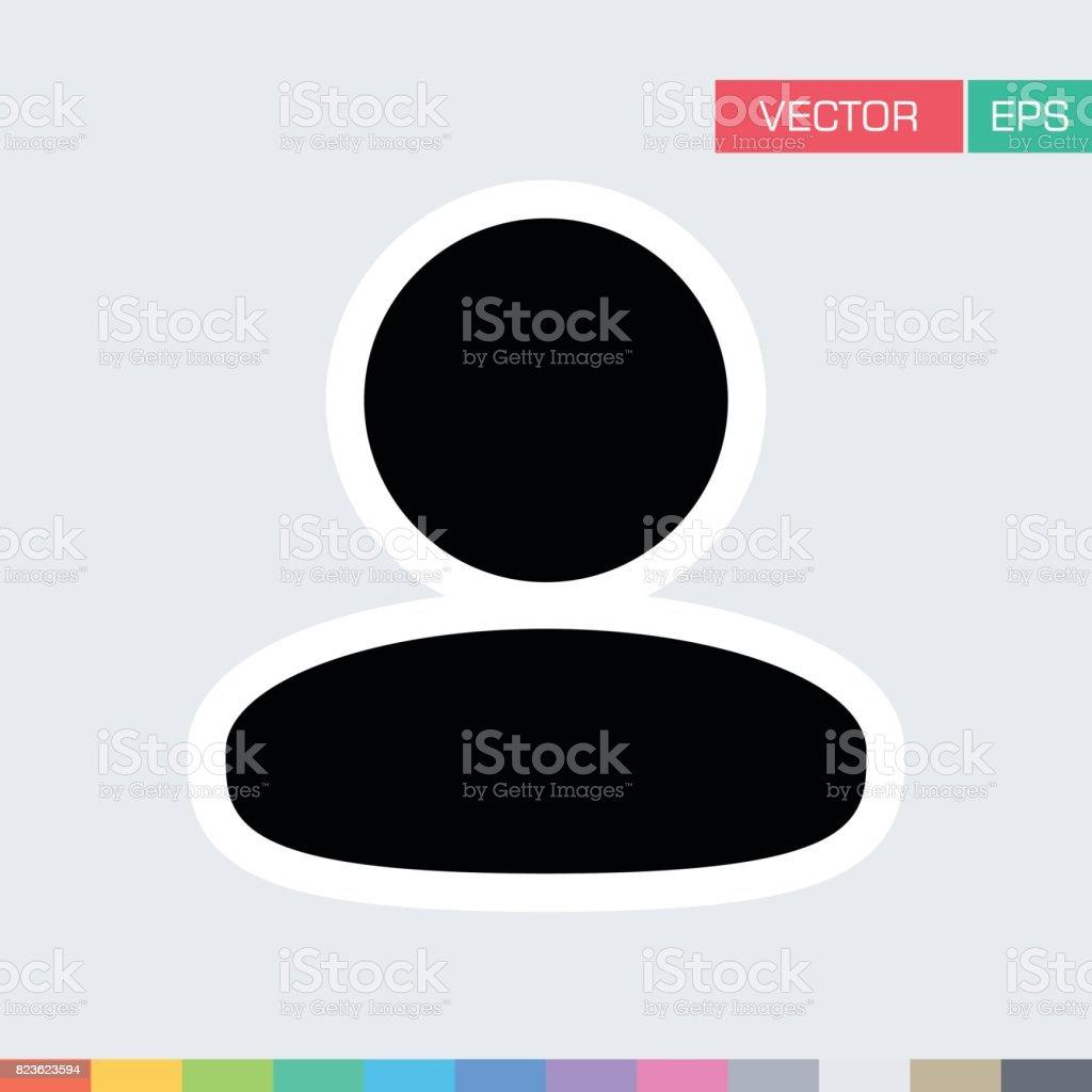 Person Icon Vector Flat Color User Profile Avatar Pictogram vector art illustration