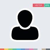 Person Icon Vector Flat Color User Profile Avatar Pictogram