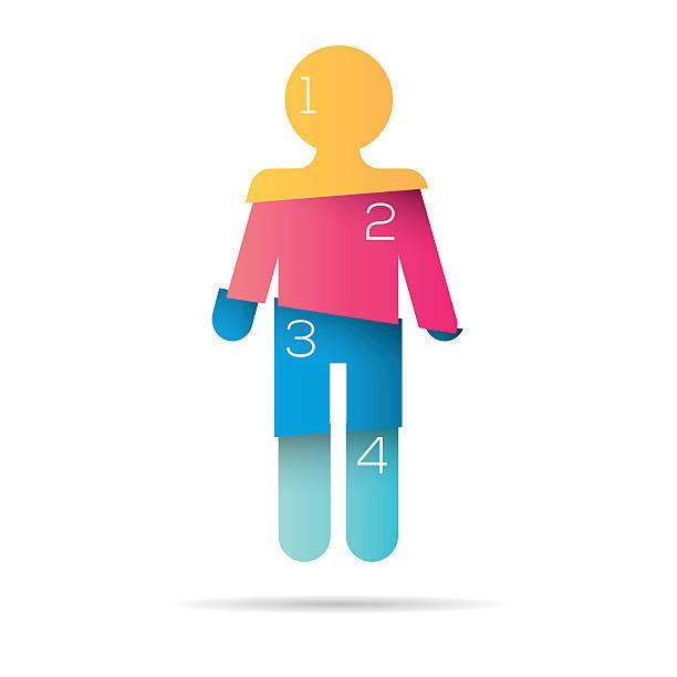 person infographic element - 人口統計のインフォグラフィック点のイラスト素材/クリップアート素材/マンガ素材/アイコン素材
