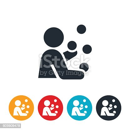 istock Person Juggling Icon 925909478