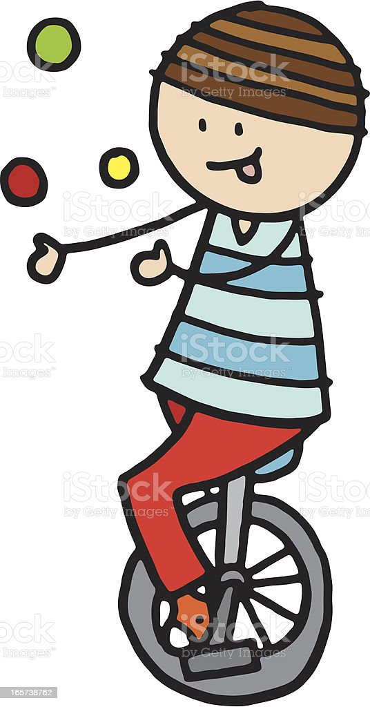 Person on unicycle juggling royalty-free person on unicycle juggling stock vector art & more images of illustration