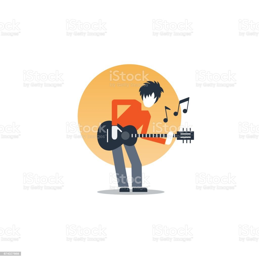 Person playing guitar, music entertainment, live show royalty-free person playing guitar music entertainment live show stock vector art & more images of acoustic guitar