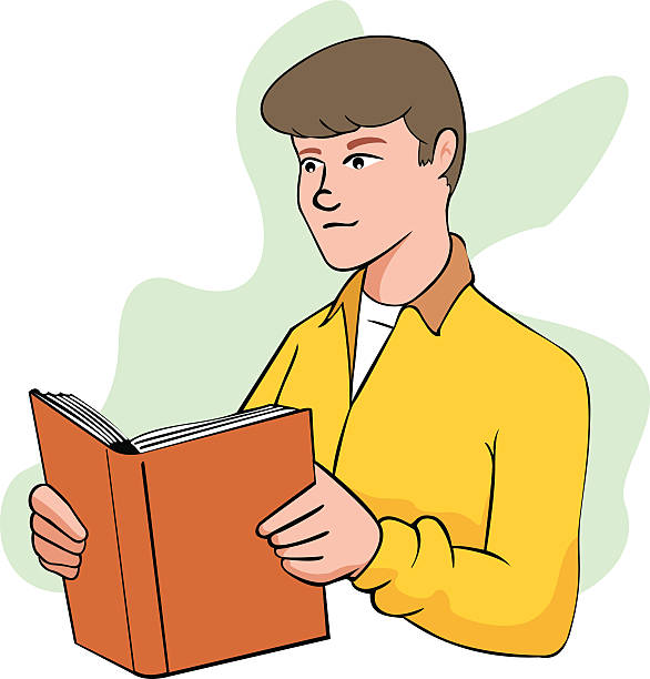 Person reading book Person reading book leitura stock illustrations