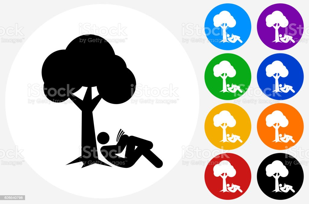 Child Reading The Book Under The Tree Royalty Free Cliparts, Vectors, And  Stock Illustration. Image 44558827.