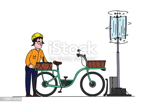 Illustration of clean energy alternative for renewable cities and modern lifestyles with futuristic ideas. Vector file.