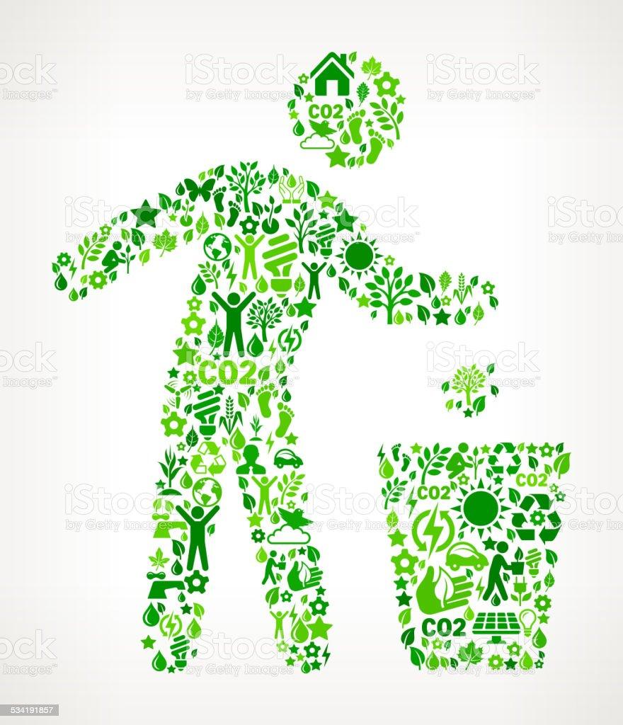 Célèbre Personne Recyclage De Protection De La Nature Motif Dart  HA64