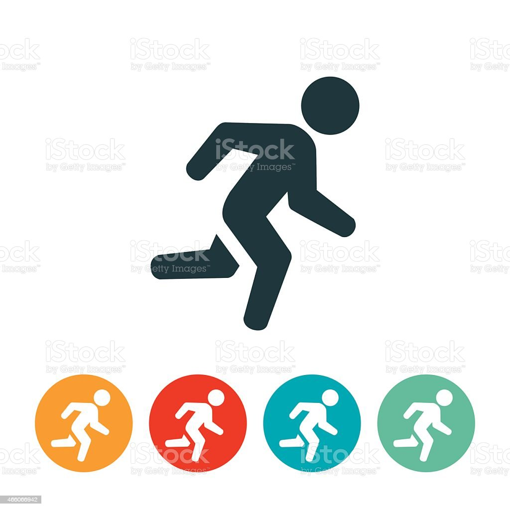 Person Running Icon vector art illustration