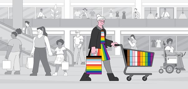LGBTQIA person shopping
