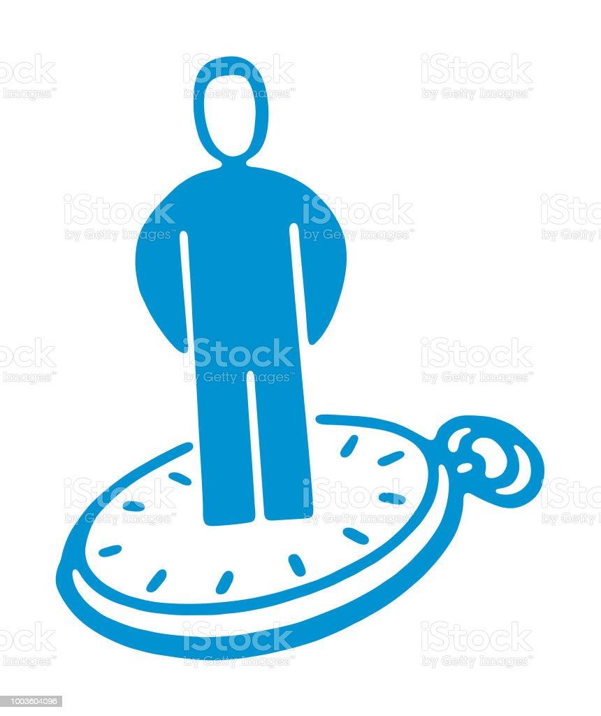 時計に立っている人 アイコンのベクターアート素材や画像を多数ご用意
