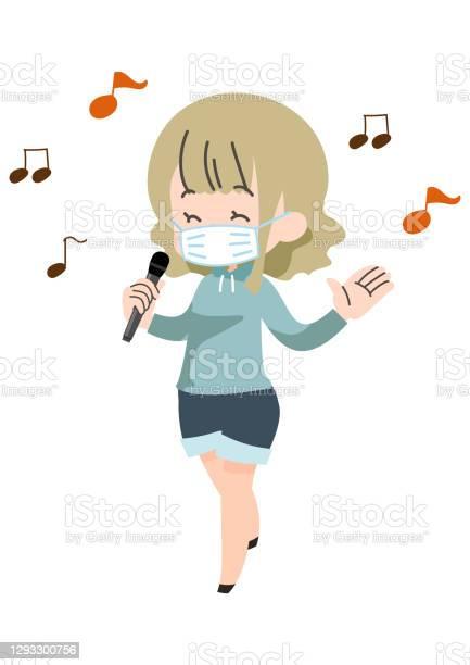マスクをして歌っている人 - 20代のベクターアート素材や画像を多数ご用意