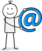 person with email sign