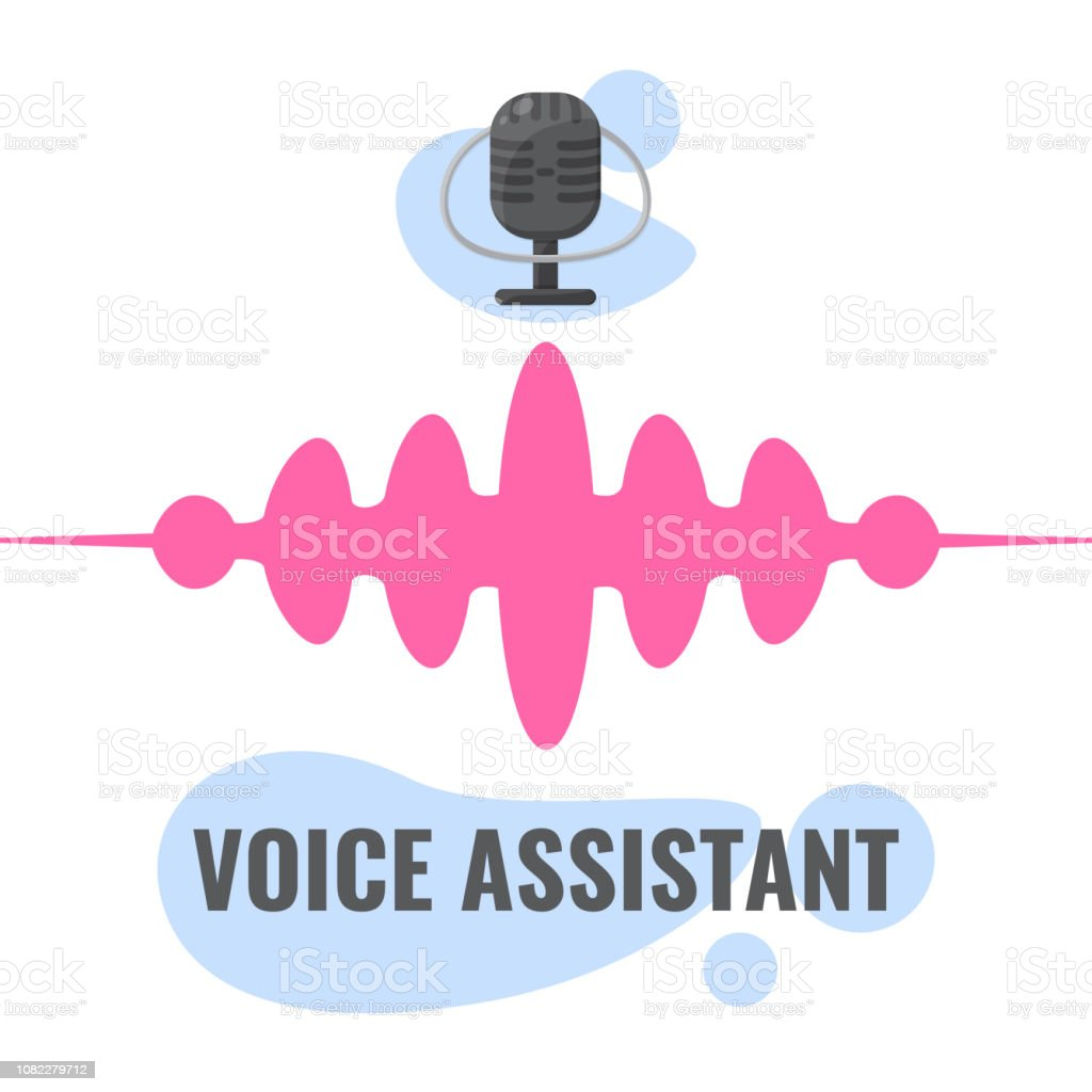 Personal Assistant And Voice Recognition Concept Microphone