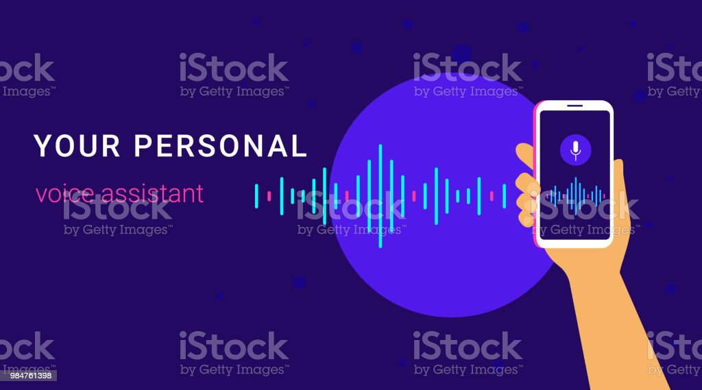 Personal Assistant And Voice Recognition On Mobile App Stock