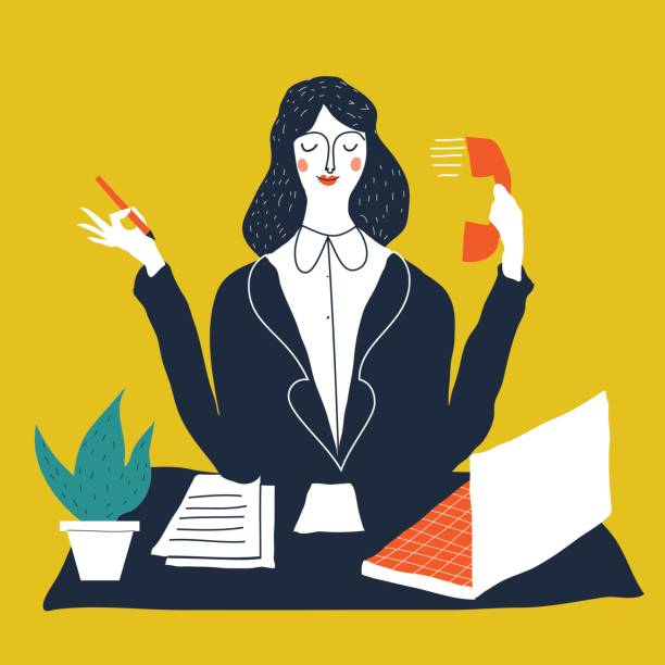 persönlicher Assistent – Vektorgrafik
