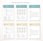 Personal business curriculum vitae and resume vector two colors.