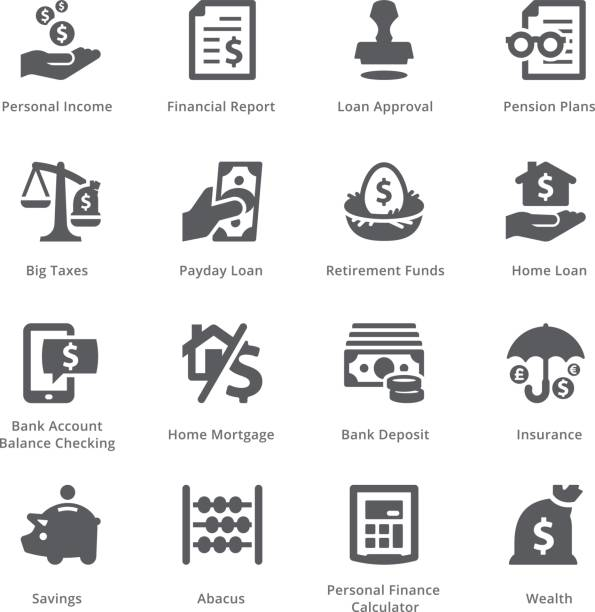 Personal & Business Finance Icons Set 1 - Sympa Series vector art illustration