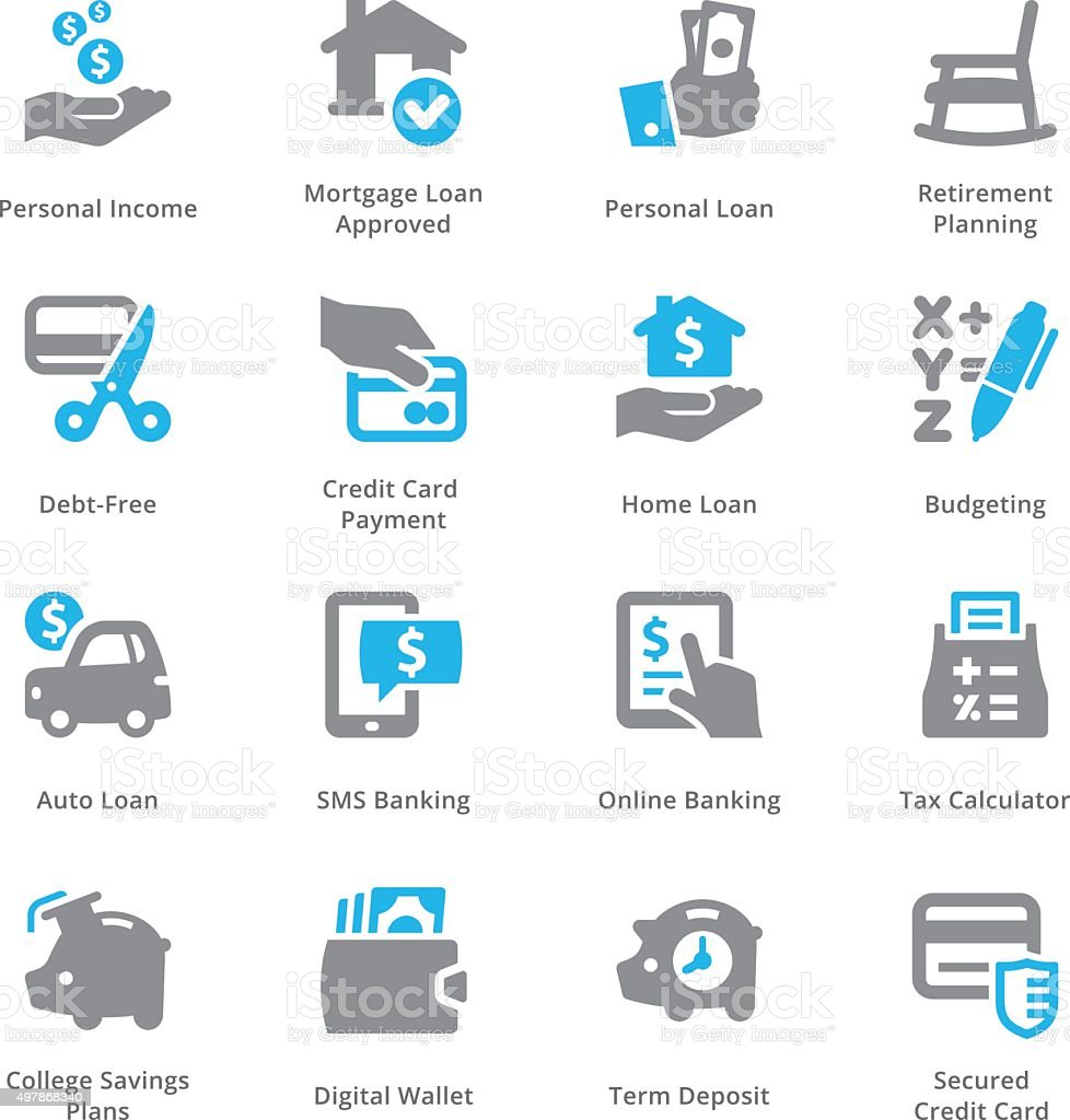 Personal & Business Finance Icons Set 2 - Sympa Series vector art illustration