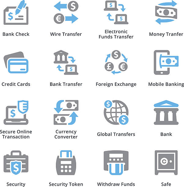 Personal & Business Finance Icons Set 3 - Sympa Series vector art illustration