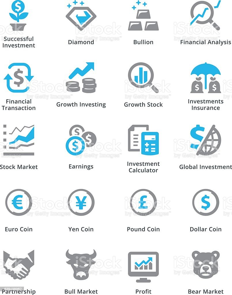 Personal & Business Finance Icons Set 4 - Sympa Series vector art illustration