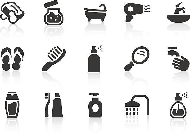 illustrazioni stock, clip art, cartoni animati e icone di tendenza di icone di cura personale - prendersi cura del corpo