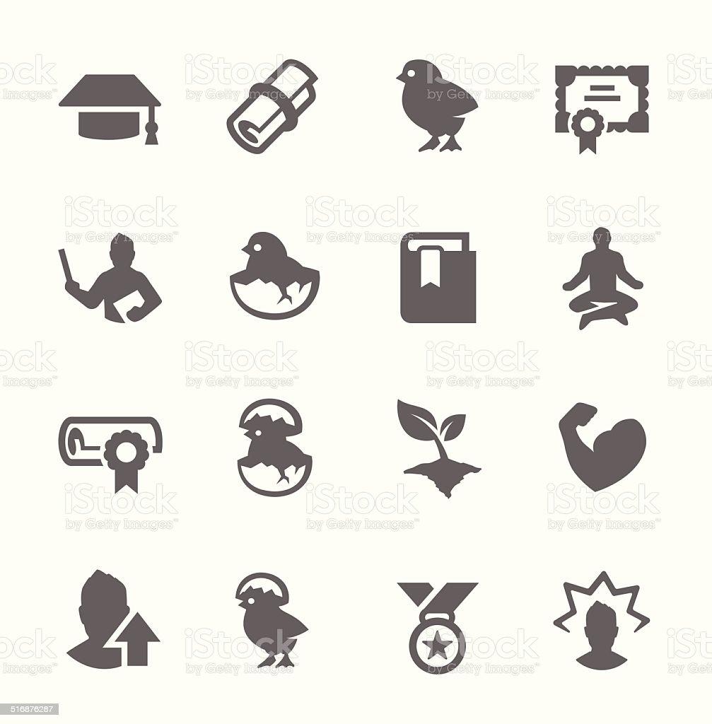 Personal Development Icons vector art illustration