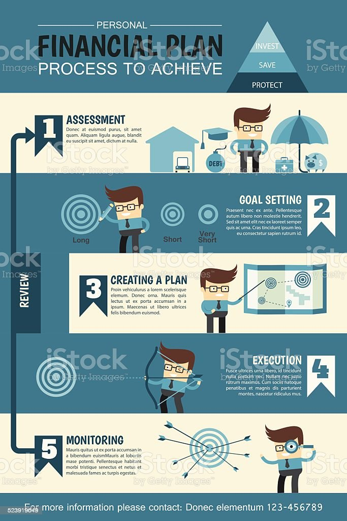 personal financial planning infographic vector art illustration