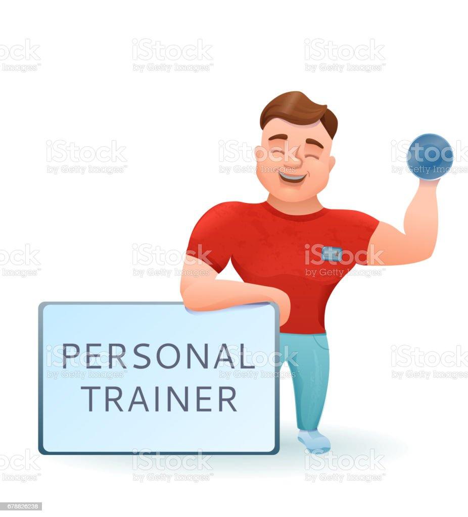 Kişisel fitness eğitmeni ya da vücut geliştirmeci etmek karikatür cha ile royalty-free kişisel fitness eğitmeni ya da vücut geliştirmeci etmek karikatür cha ile stok vektör sanatı & adamlar'nin daha fazla görseli