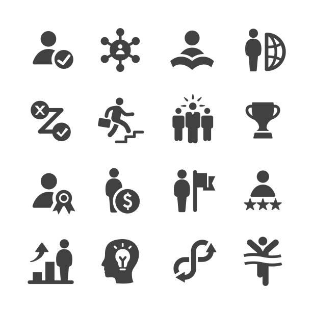 個人の成長のアイコンを設定 - アクメ シリーズ - challenge点のイラスト素材/クリップアート素材/マンガ素材/アイコン素材