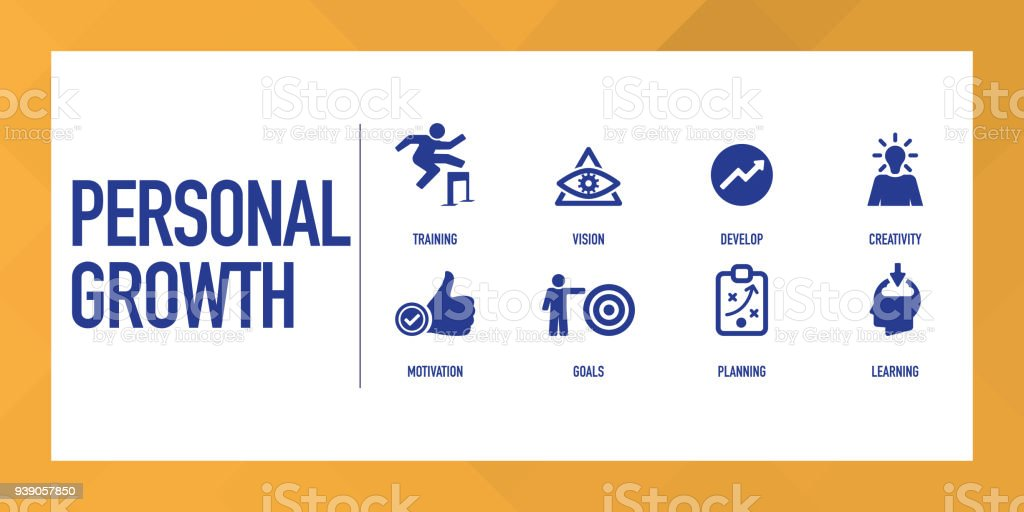 Personal Growth Infographic Icon Set Stock Vector Art More Images