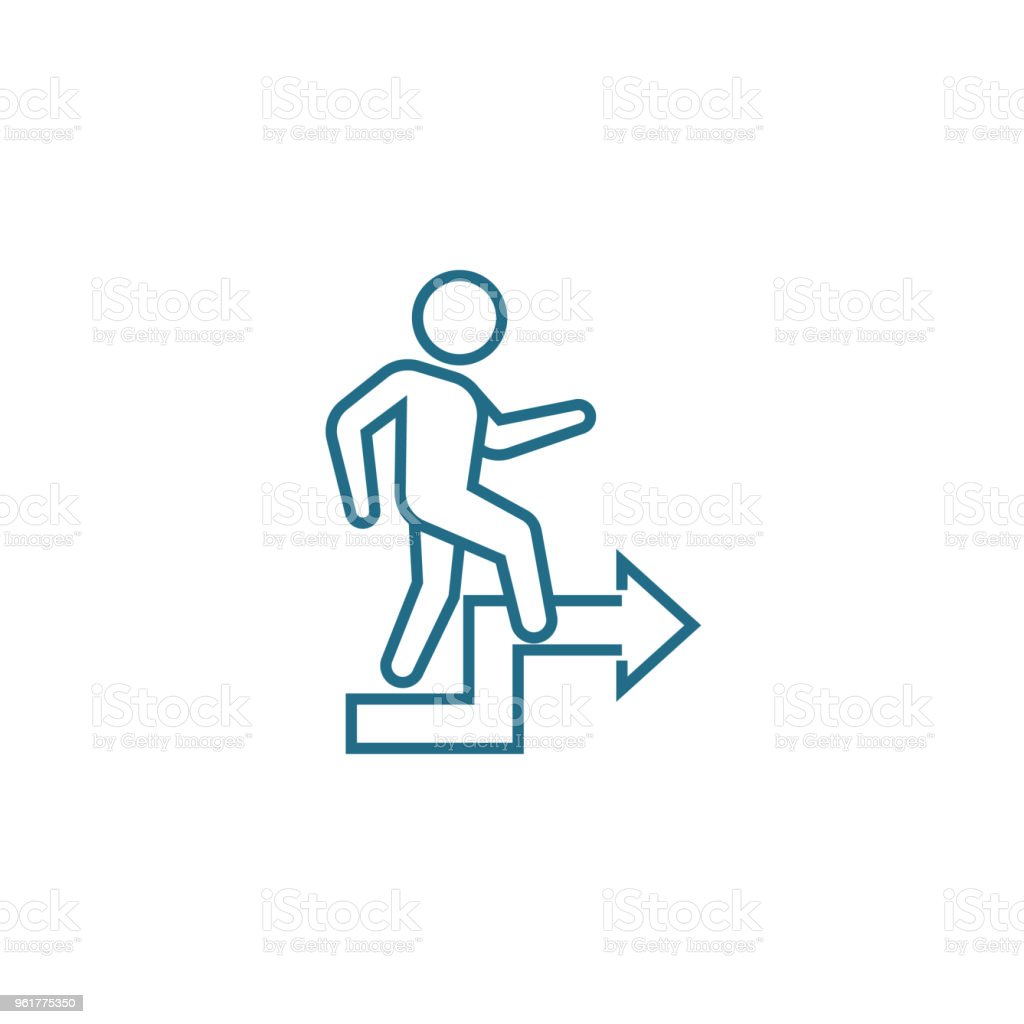 Personal Growth Linear Icon Concept Personal Growth Line Vector Sign
