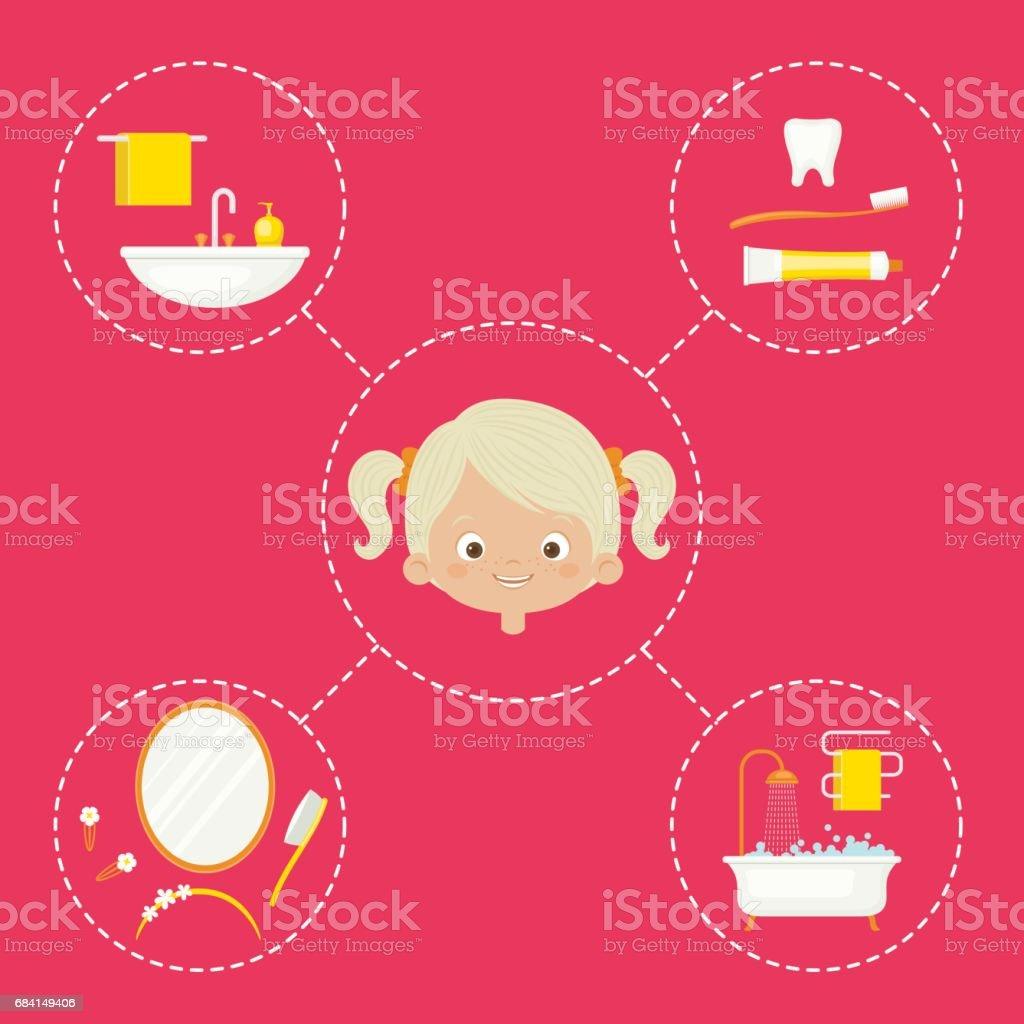 Personal hygiene concept design personal hygiene concept design - immagini vettoriali stock e altre immagini di accudire royalty-free