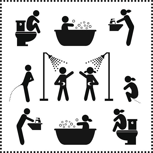 personal hygiene symbol - 淋浴 幅插畫檔、美工圖案、卡通及圖標