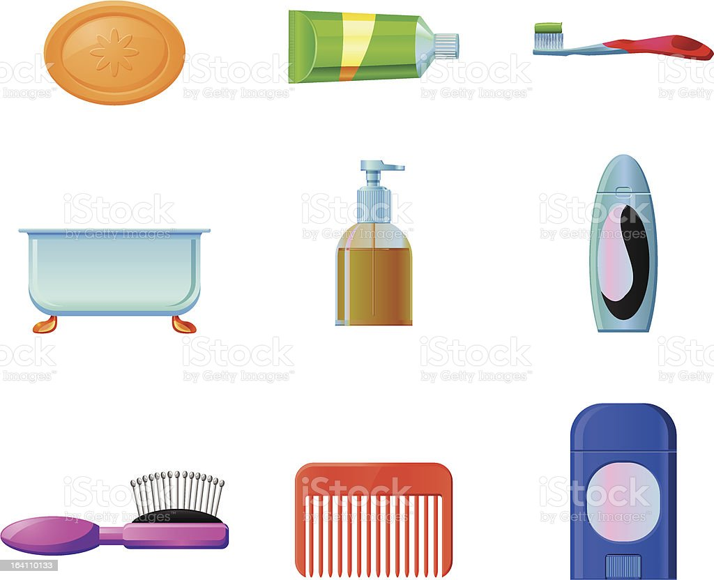 Personal Hygiene vector element icons royalty-free stock vector art