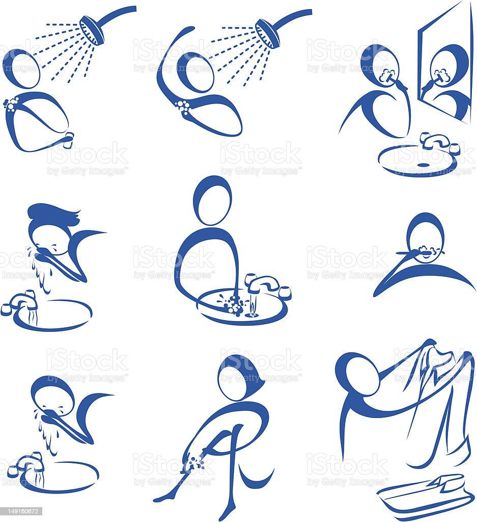 pers nliche hygiene stock vektor art und mehr bilder von badezimmer 149160672 istock. Black Bedroom Furniture Sets. Home Design Ideas