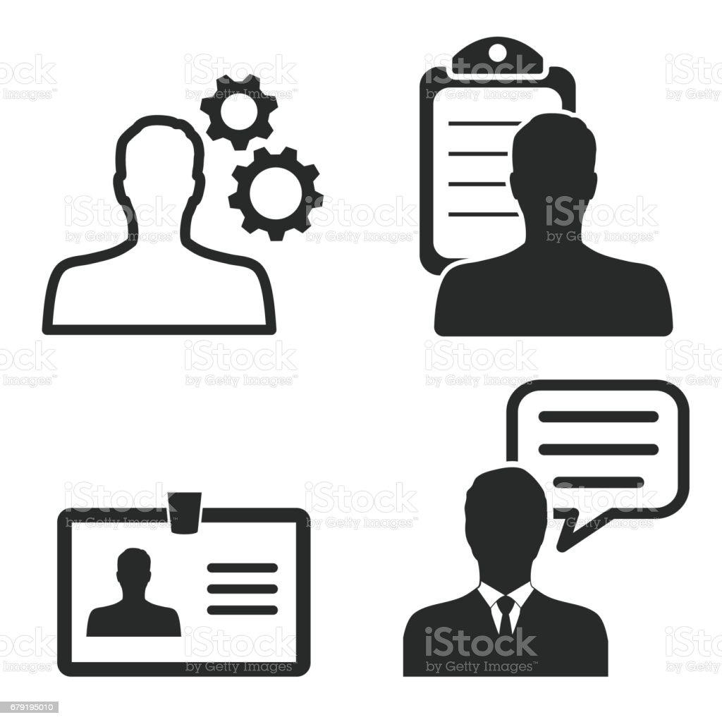 Ensemble icône personnelle. ensemble icône personnelle – cliparts vectoriels et plus d'images de avatar libre de droits
