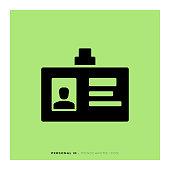 Personal ID Monochrome Icon