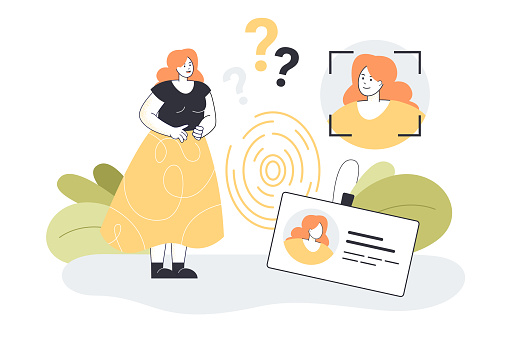 Personal identity for digital data security of female character
