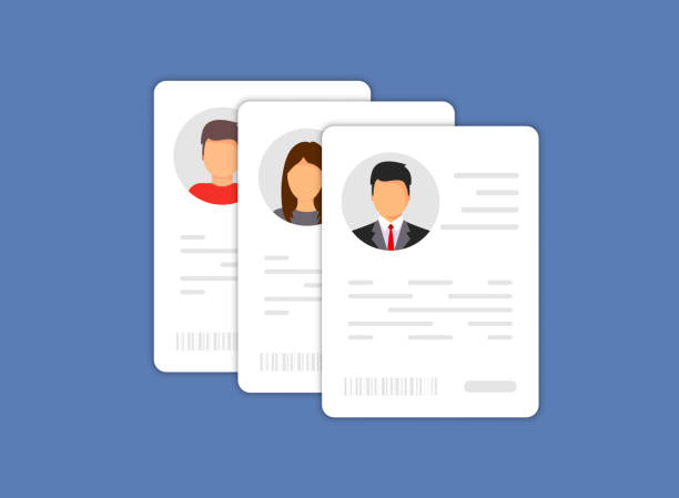 personal info data icon. identification card icon. personal info data icon. user or profile card details symbol, identity document with person photo and text. car driver, driving license, id card - крупный план stock illustrations