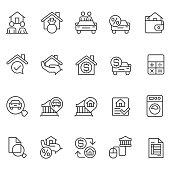 Personal loan icon set