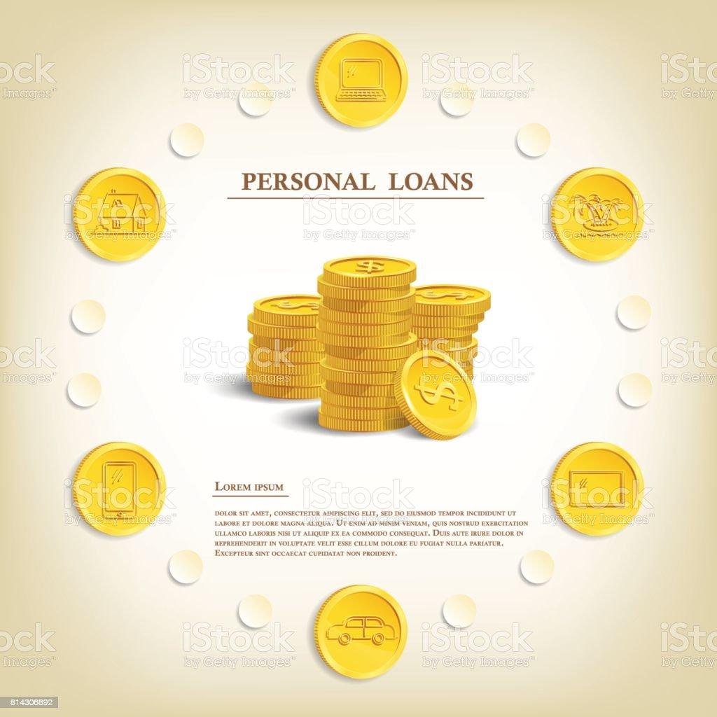 Ilustración De Préstamos Personales Plantilla Marketing Del Crédito ...