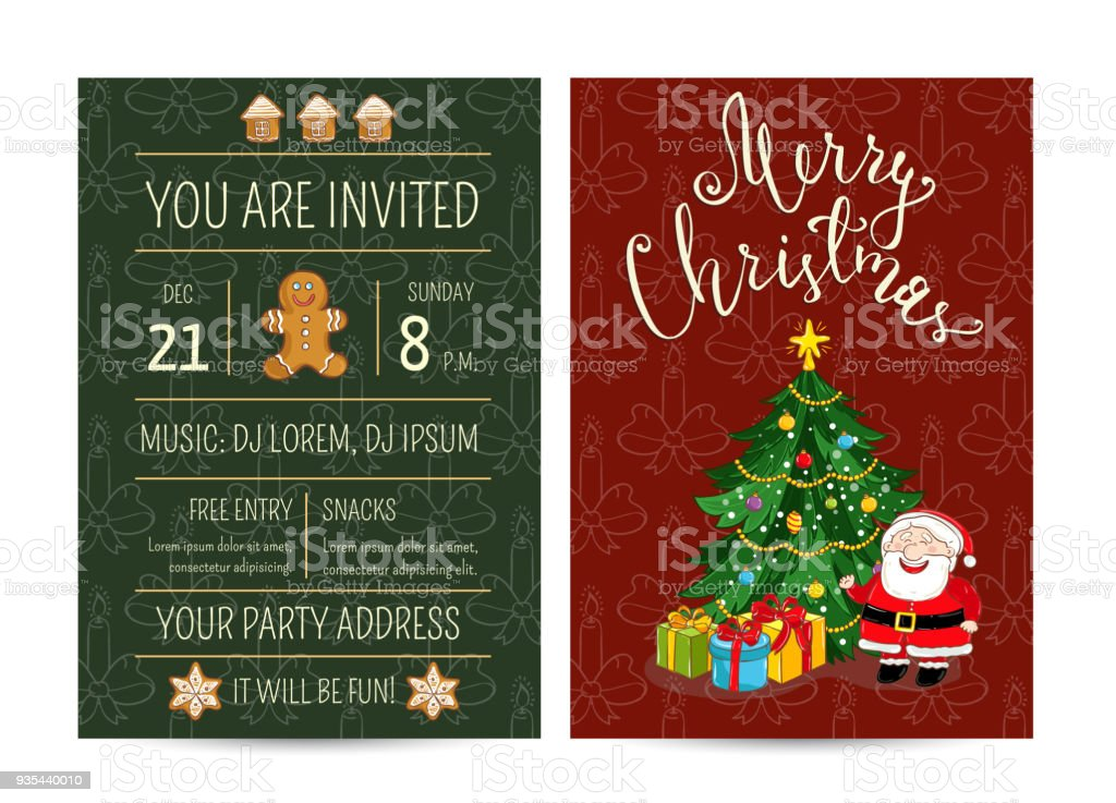 Personal Offer To Join Corporate Christmas Party Stock Vector Art ...