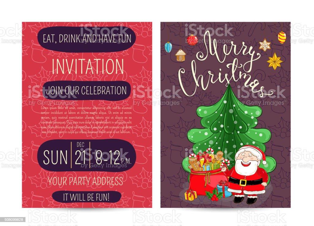 Angebot Weihnachtsfeier.Persönliches Angebot An Corporate Weihnachtsfeier Stock Vektor Art