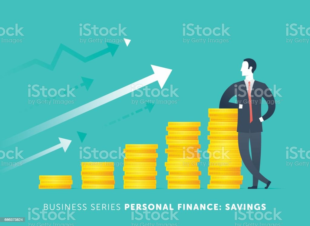 Personal Savings vector art illustration